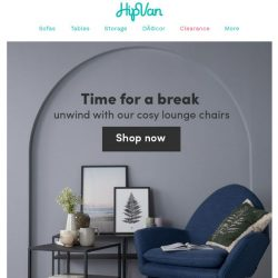 [HipVan] Shop comfy lounge chairs from $129!✨