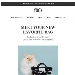 [Yoox] Meet your new favorite bag: Perfect your outfit from Gucci, Off-White™ and Burberry…