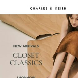 [Charles & Keith] New In: Snake Print Mules