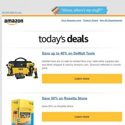 [Amazon] Save up to 40% on DeWalt Tools