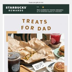 [Starbucks] Make Dad smile on his special day ❤️