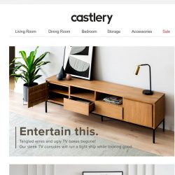 [Castlery] On-trend TV consoles for every interior.