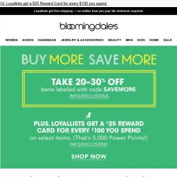[Bloomingdales] You scoped it out, now get it for up to 30% off
