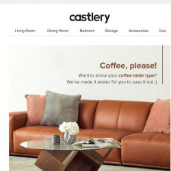 [Castlery] What's your coffee table type?