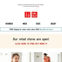 [UNIQLO Singapore] Mid-week New Arrivals!