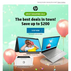 [HP Singapore] Great Singapore Sale - Save Up to $200!
