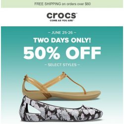 [Crocs Singapore] ✨ 50% OFF Select Styles! Say hello to summer!