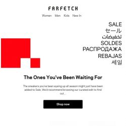 [Farfetch] From the rare to most-wanted – shop the best sneakers in Sale