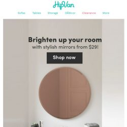[HipVan] Brighten up your room with mirrors from $29! ✨