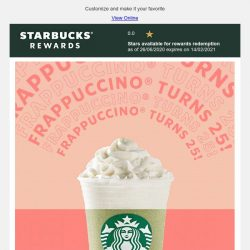 [Starbucks] Find your perfect Frappuccino®