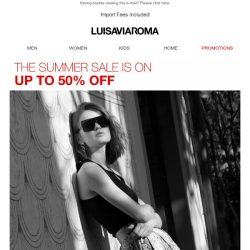 [LUISAVIAROMA] Kick off the weekend with up to 50% off!