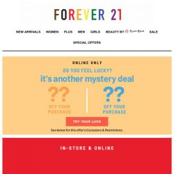 [FOREVER 21] 🚨 Up to 50% off!