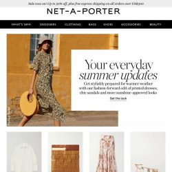 [NET-A-PORTER] Your everyday summer updates