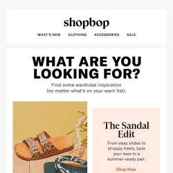[Shopbop] The style search ends here