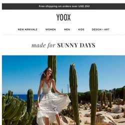 [Yoox] Made for sunny days: Swimsuits, shoes and accessories for summer