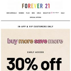 [FOREVER 21] Early Bird Gets The...
