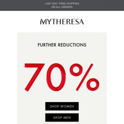 [mytheresa] Sale: further reductions, now up to 70% + free shipping