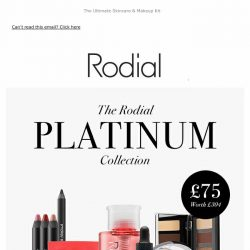 [RODIAL] The Rodial Platinum Collection