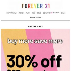 [FOREVER 21] 30% OFF! Just like that ⚡