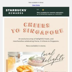 [Starbucks] Celebrate Singapore with delightful treats and an exclusive collection
