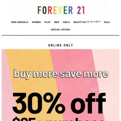 [FOREVER 21] 30% off, 💯 you
