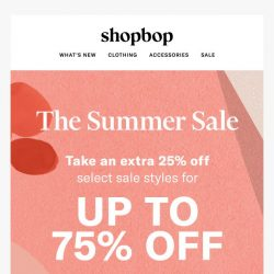 [Shopbop] Summer Sale! Up to 75% off