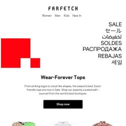 [Farfetch] Tops for every summer scenario, now on Sale
