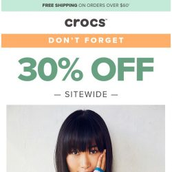 [Crocs Singapore] 🤔 Did you forget about our 30% off sale?