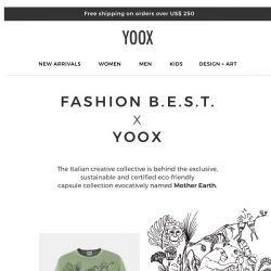 [Yoox] Mother Earth: The exclusive capsule by Fashion B.E.S.T.
