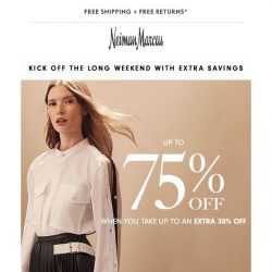 [Neiman Marcus] Summer style savings! Up to 75% off wear-now looks