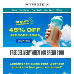 [MyProtein] 📚 Quick Post-Wokout Snacks For Your Muscles