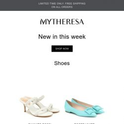 [mytheresa] Free shipping + Don't miss out: 650+ new arrivals this week