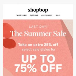 [Shopbop] Bq, the Summer Sale ends today!