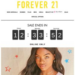 [FOREVER 21] Go Fourth & Shop!