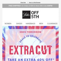 [Saks OFF 5th] Code MAJOR will get you up to 85% OFF select shoes & bags