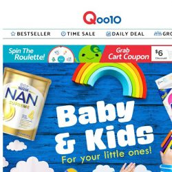 [Qoo10] Get everything you need for your little ones here! Giordano & Hush Puppies on sale now!