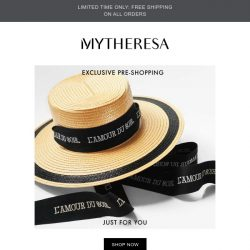 [mytheresa] Exclusive pre-shopping: LOEWE, Gucci + last call: extra 20% off selected sale