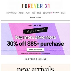 [FOREVER 21] Try Something New!