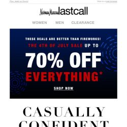 [Last Call] Gents, save on fresh summer style!