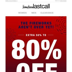 [Last Call] Oh yeah! Extra 50%–80% off EVERYTHING starts now!