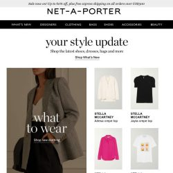 [NET-A-PORTER] Mid-week refresh? Discover today's What's New