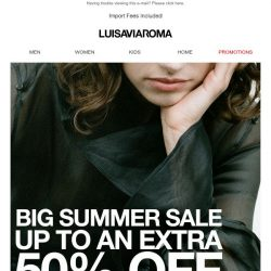 [LUISAVIAROMA] Up to an extra 50% off: More reductions on the latest trends!