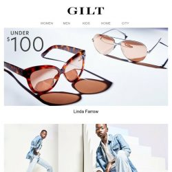[Gilt] Under $100 Linda Farrow. Take in the view.