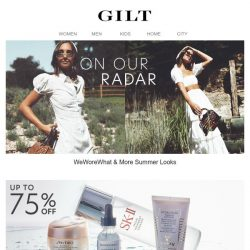 [Gilt] On Our Radar: WeWoreWhat & More. See why →