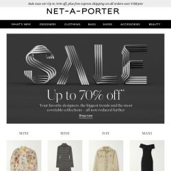 [NET-A-PORTER] 100+ dresses at up to 70% off