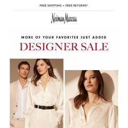 [Neiman Marcus] 60% off Designer Sale additions from Saint Laurent, Dolce & Gabbana…