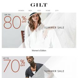 [Gilt] ☀️ On for Summer: Up to 80% Off ☀️