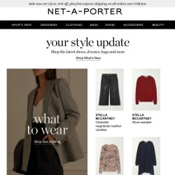 [NET-A-PORTER] Start the week off stylishly with today's What's New