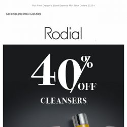 [RODIAL] Last Chance | 40% Off Cleansers