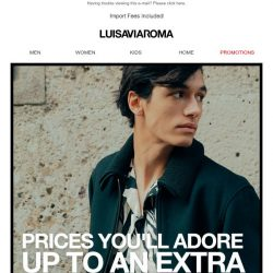 [LUISAVIAROMA] Too good to be true: further reductions on your favorite designers